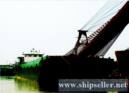 1400dwt self-unloading sand/coal transportation cargo ship