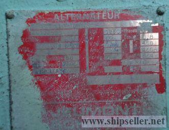 sale of Crepelle La Ciotat Marine Diesel Generators