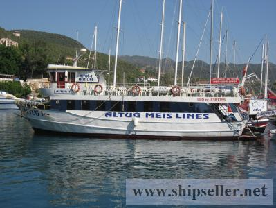 Ferry boat / tour boat for sale on Auction inKas, Turkey