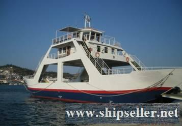 DOUBLE ENDER DAY PASSENGER-CAR-TRUCK FERRY FOR SALE