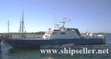EX GERMAN PATROL BOAT FOR SALE