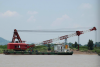 300T, 2007Blt Revolving Floating Crane Barge for sale
