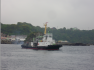 800hp Japan built small harbor tug boat with oil skimmer device for sale